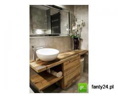 Stylowe meble łazienkowe ze starego drewna na wymiar