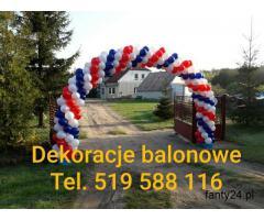 Poznan balony z helem poznan bramy balonowe poznan montaz bram z balonów dekoracje