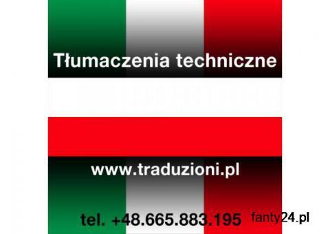 tłumaczenia techniczne z języka włoskiego