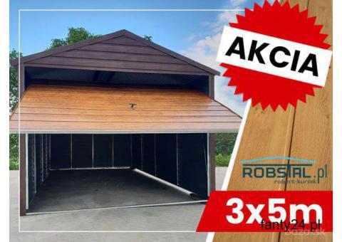 Garaż Drewnopodobny 3x5