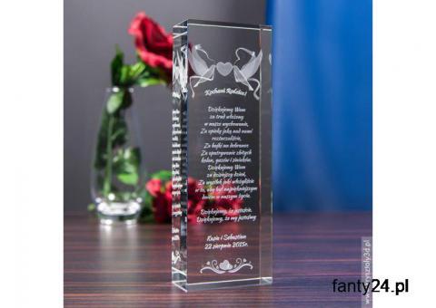 DUŻY Kryształ 3D Gołąbki Miłości jako wyraz Twojej wdzięczności dla rodziców!
