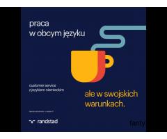 Pracownik działu obsługi klienta z językiem niemieckim i polskim
