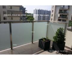 Folie na szyby balkonowe- oklejanie balkonów Folia mat zewnętrzny Warszawa - 2/2