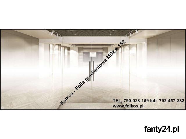 Folie gradientowe Warszawa -Perła, Mgła,Białe kwiaty, wzór 250, 560, 234. - 1/2